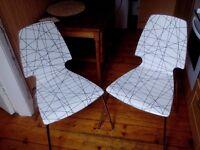 2 Chairs VILMAR Striped black/chrome-plated – IKEA