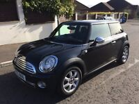 LATE 2007 Mini Copper 1.6 Petrol Panoramic sunroof half/Leather Excellent Condition MOT October 2017