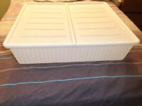 2 Ikea Under Bed Plastic Storage Boxes with Lids (£5 each)