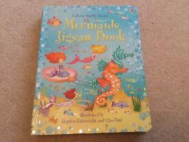 Usborne Sparkly Jigsaws Mermaids Jigsaw Puzzle Book NEW