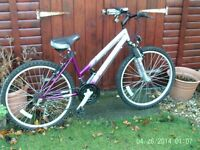 Falcon Rapour ladies bike, in silver and purple. Good condition. Little used.