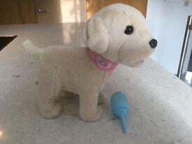 Baby born interactive golden retriever puppy - as new