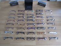 **CLEARANCE** DESIGNER EYEWEAR NEW, GUESS BY MARCIANO. 39 PEICES WITH CASE & CLOTHS