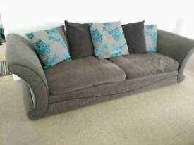 SOLD! 4 seater and 3 seater sofa
