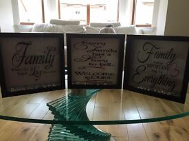 Family quoted box frames