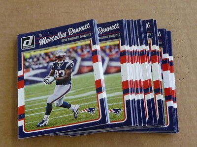 2016 Panini Donruss Martellus Bennett Base Lot Patriots 25 Cards  179