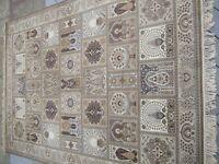 A Prado Orient Keshan Super Weave carpet beige patterned 200cm by 300cm