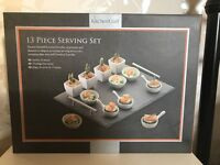 Kitchen Craft 13 Piece Serving Set - New