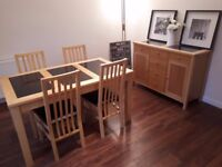 Dining table and chair & Side Board