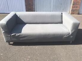 GREY FABRIC SOFA FROM IKEA IN GOOD CONDITION