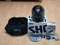 Shoei Multitec Black Large Size 59-60 c/w with Interphone F4