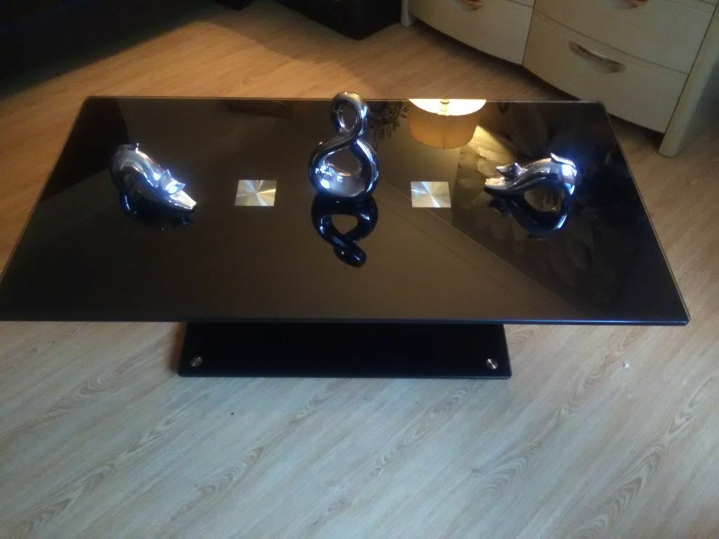 Fabulous Black Glass Coffee Table From Harveys Cost 179 In Dover Kent Gumtree
