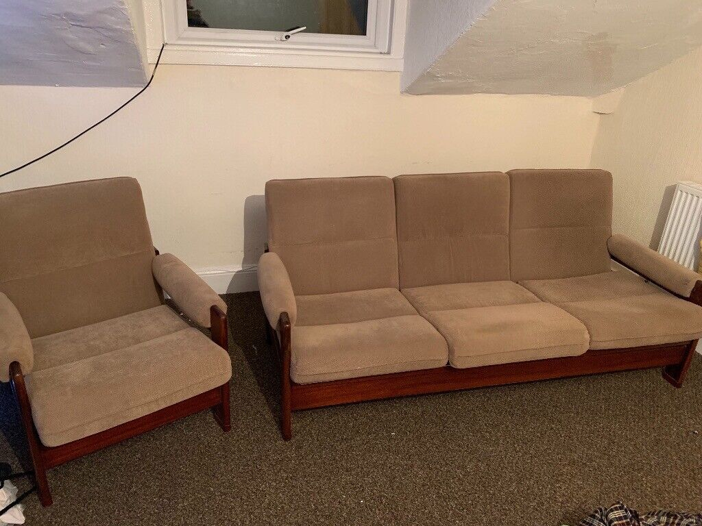 Vintage Retro Sofa Set 3 Piece