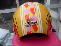 FUNKY LADIES BIKER HELMET SIZE XS GREAT CON ONLY £10 ! PLUS JACKET , GLOVES , BOOTS & TROUSERS