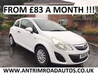 2012 VAUXHALL CORSA 1.0 S ** FACELIFT ** FINANCE AVAILABLE WITH NO DEPOSIT **