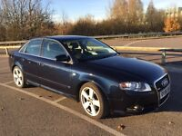 Audi A4 S-Line 2.0 TDI 2006 170 PS. Manual. Low Mileage. Leather. Bose Stereo w/6CD Changer.