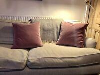 Scatter Cushions for couch/bed (powder pink matt velvet)