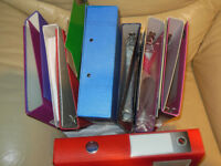 University, College, School, Hobby. All A4 Folders of colour and size