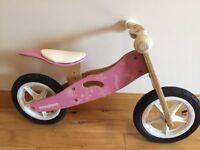 Kids Mongoose Wooden Balance Bike - Pink