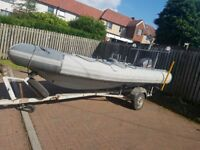 Rib with trailer &engine for sale or swap for small touring caravan