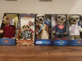 5 meerkat toys including 3 limited editions