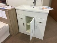 Clearance Stock 800 mm basin unit with tap and waste