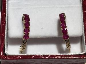 #3401 10K YELLOW GOLD RUBY EARRINGS WITH CLUTCH BACKS *JUST BACK FROM APPRAISAL AT $1350.00!*
