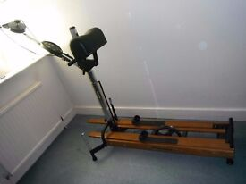 Nordic ski exercise machine.