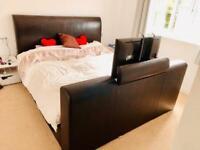 Super king Tv bed and super king mattress