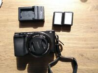 Sony A6300 + 16-50mm Kit Lens + 2 Spare Batteries