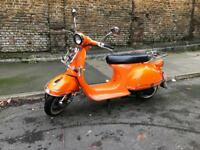 Orange AJS Modena 125 scooter!
