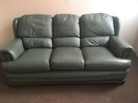 Large three seat marble green sofa