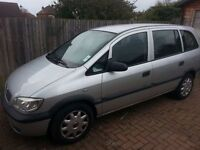 Vauxhall zafira 2002 mot expired Feb 2016, currently sorn,would suit one who can fix an engine