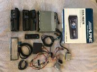 Alpine CDA-9887R headunit, handsfree kit, i-pod cable, remote control etc
