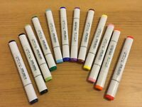 Copic Sketch Colour Set of 12 - Hardly Ever Used!