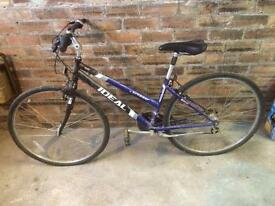 Ladies/girls bike, Ideal Crosser, hard used, cost £190, sell for £50 only.