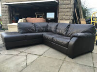 xDFS Dark brown leahter corner sofa VGC DELIVERY AVAILABLE