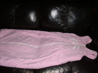 'New Family Shop', Baby Sleeping Bag in Pink 24-36 months. Used, from smoke and pet free house.