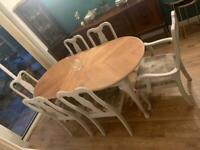 Parisian Shabby Chic dining table and chairs