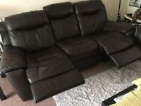 3 SET SOFAS   3 SEATER RECLINER   2 SEATER RECLINER   1 SEAT ARMCHAIR   AUTHENTIC LEATHER
