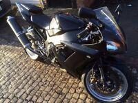 Yamaha R1 2002 damage frame crack 5PW injection