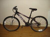 """Indi Asriel Mens MTB Mountain Bike 26"""" Inch Wheels 17"""" Alloy purple Black"""