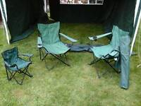 FOLDING CHAIRS FOR GARDEN/CAMPING/FESTIVALS