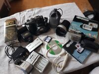 camera's and accessories joblot..