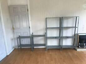 Ikea hyllis galvanised steel shelving x 4 shelves