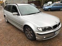 BMW 320D ES Touring 1995cc Turbo Diesel 6 speed manual 5 door estate 53 Plate 30/09/2003 Silver