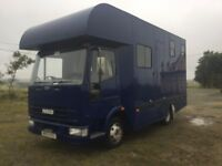 Iveco horse box 7.5 tonne years mot