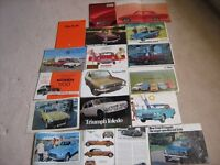 CAR BROCHURES from 1959