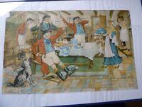 "Vintage ""A View Halloo"" Print C. Shippam 1835"
