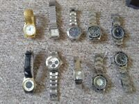 10x Costume watches all new but no boxes...great for boot fairs